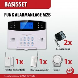 GSM Funk Alarmanlagensystem mit LCD Display Basis-Set
