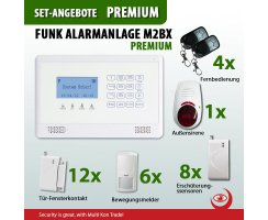 PREMIUM SET * GSM Funk Alarmanlage mit LCD Display *...